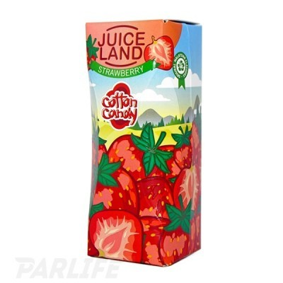 Cotton Candy Juiceland - Strawberry 100ml (0mg+3mg никобустер)
